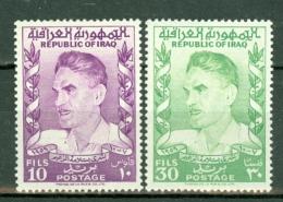 Irak 1960  Yv 292/293**, SG 537/38**, Sc 258/259**  MNH - Iraq