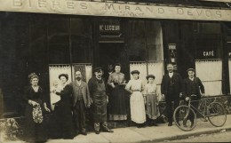 CARTE PHOTO NON SITUEE - CAFE - Maison Henri LECOEUR - Belle Animation - Cartes Postales
