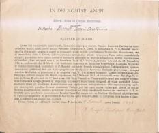 In Dei Nominé Amen-salutem In Domino 1898 - Religion & Esotérisme