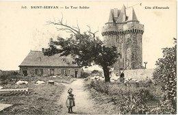 35 Saint-Servan  - La Tour Solidor - Berger Moutons - Fillette - SERV_NV2 - Saint Servan