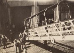 Photo Ancienne Croisière Sur Le Paquebot Le Brazza L'embarquement à Bordeaux - Boats
