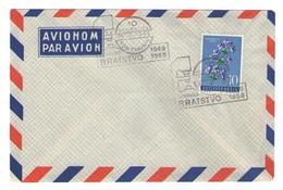 JUGOSLAVIJA YUGOSLAVIA AIR MAIL COVER SPECIAL POSTMARK TVORNICA BRATSTVO NOVI TRAVNIK 1949 1959 FACTORY - 1945-1992 Socialist Federal Republic Of Yugoslavia