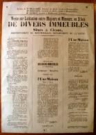 Vente Sur Licitation De Divers Immeubles Situés à CIVAUX , Arrondissement De MONTMORILLON , Frais Fr : 3.95€ - Vieux Papiers
