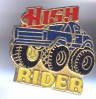 VP215 Pin´s Voiture Car 4X4 High Rider Bleu Achat Immediat - Pin's