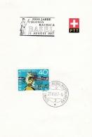 Switzerland Folder P/m Basel - 2000 Jahre Colonia Raurica 1957  (SKO2-3) - Suisse