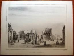 Lithographie , 29 X 22 , BORDEAUX , Place TOURNY , Frais France : 1.55€ - Litografía
