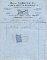 Facture/Maison Launay Ainé/Paris/Fabrique De Lits En Fer/Godfroy/La Couture/Eure//1873   FACT158 - Francia