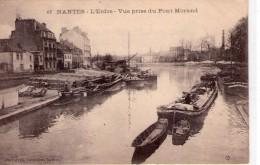 Nantes.. Animée Belle Vue De L'Erdre Prise Du Pont Morand Péniches Gabares Gabarot Batellerie Navigation - Nantes
