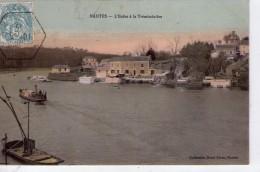 Nantes.. L´Erdre à La Trémissinière Bateau Vapeur Péniches Gabares Gabarot Batellerie Navigation - Nantes