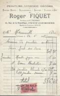 Facture/Peinture-Vitreri-Décors/Roger Fiquet/PETIT-COURONNE/Seine Inférieure//1938     FACT162 - Droguerie & Parfumerie