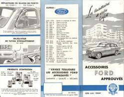 AUTOMOBILES - DEPLIANT PUBLICITAIRE - Accessoires FORD - Cars