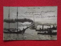 Barche Vaporetti Nave Spedita Da Millesimo 1904 Con Timbro Genova Ora Savona - Chiatte, Barconi