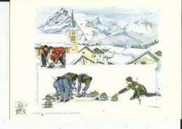 Carte Des Jeux Olympiques-( Le Curling A Pralognan-la-Vanoise )-Discipline De Glisse Et De Glace - Olympic Games