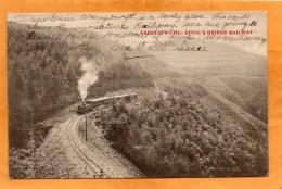 Aberystwyth Devils Bridge Railway Engine 1907  Postcard - Pays De Galles