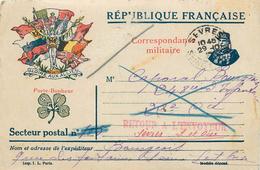 CORRESPONDANCE MILITAIRE - 248em Régiment D'infanterie,voir Cachets,retour Envoyeur+le Destinataire N'a Pu être Atteint. - Guerre 1914-18
