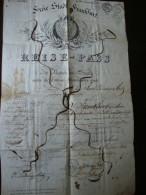 Freie Stadt Frankfurt Reisepass 1844 - Historische Dokumente