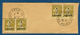 """France  - Oblitération """" Paris Grand Palais"""" En 1935 Sur Type Semeuse Surchargés  à Voir 1 Scan   Réf. 876 - Marcophilie (Lettres)"""