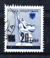 Albania - 1993 - 20 Leke Surcharge - Used - Albanien