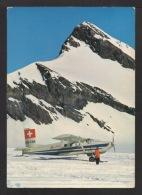 CPSM : AVION TAXI. Aérodrome Régional De Montreux/Rennaz.Le Tremplin Des Glaciers. Suisse. - 1946-....: Ere Moderne