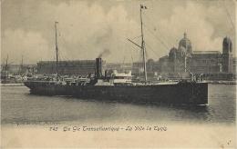 745- Cie Gle Transatlantique - La Ville De Tunis - Ed. Guende - Paquebots
