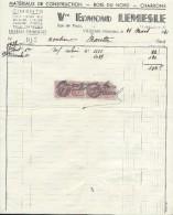Facture/Matériaux De Construction-Bois Du Nord-Charbons/Veuve Edmond  Lemesle/VILLEDIEU/Manche/1941   FACT163 - Francia