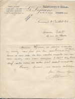 MLettre /Parfumerie GEHEL/G Lejeune/Rue De Verdun /SURESNES/Seine /1922       FACT166 - Droguerie & Parfumerie