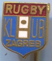 Rugby, Club ZAGREB, Croatia, Enamel Pin, Badge - Rugby