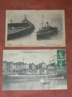 """DIEPPE    1910  LOT 2 CPA STEAMERS  """"SUSSEX """"  ET  """"PARIS""""  EDIT CIRC OUI - Dieppe"""