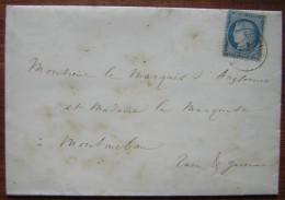 1871 Jolie Lettre Pour Un Marquis De Montauban, Avec Deux Faire Part De Mariage - Mariage