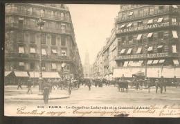 75 Paris. Le Carrefour Lafayette Et La Chaussée D'Antin. Carte 202 - Non Classés