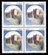 ITALIA 1980  Castelli Lire 450 In Quartina MNH ** Integra - 1971-80:  Nuovi