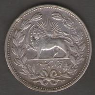 Persia, Muzaffar Al-Din Shah, 5000 Dinars AH1320 (1902) Silver - Iran