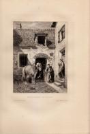 1872 - Eau-forte Originale De Jules Jacques VEYRASSAT - Maréchalerie De Village - FRANCO DE PORT - Estampes & Gravures