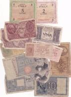 LOT De 14 Billets Anciens ITALIE Petit Prix Petits états - Italia