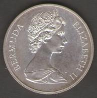 BERMUDA ONE DOLLAR 1972 SILVER WEDDING AG SILVER - Bermudes