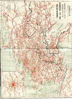 N°49832 -carte Des Chemis De Fer De La France , De L'Allemagne Et Pays Limitrophes- - Other