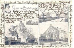 Deutschland, 1901, Gruss Aus Eimeldingen, Post, Löwen, Bahnhof, Basel Nach Elgg, Siehe Scans! - Germania
