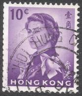 Hong Kong. 1962-73 QEII. 10c Used. Upright Block CA W/M SG 197 - Hong Kong (...-1997)