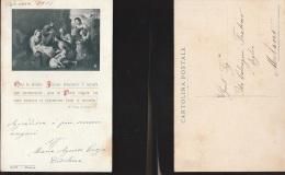 5440) AUGURALE NATIVITA' E FRASE DI SAN FRANCESCO DA SALES NON VIAGGIATA MA DATATA 1916 - Holidays & Celebrations