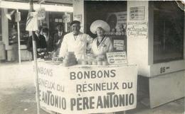 BOULOGNE SUR MER - Père Antonio,Bonbons Résineux, Carte Photo A Laurent. - Boulogne Sur Mer