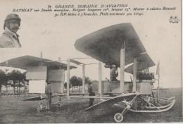 TOP CARTE.PRECURSEURS.AVIATION.BATHIAT SUR DOUBLE MONOPLAN.BREGUET   ETC....SUP.DOS VIERGE - ....-1914: Precursori