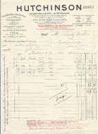 Facture/Cie Nationale Du Caoutchouc Souple/Hutchinson/BORDEAUX/Gironde/1916  FACT191 - Francia