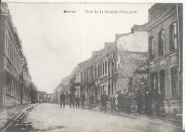 HERVE  Rue De La Station Et La Gare - Herve