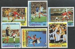 Liberia  1978   Sc#820-5  World Cup Set Used  2016 Scott Value $3.45 - Liberia