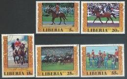 Liberia  1977   Sc#784-7, C216  Summer Olympics Set Used  2016 Scott Value $3.15 - Liberia