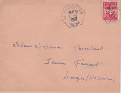 LE BOURGET  AIR    1957       FRANCHISE MILITAIRE - Vieux Papiers