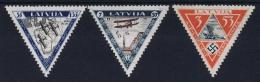 Letland / Latvia: Mi Nr  225 A - 227 A MNH/**/postfrisch/neuf Sans Charniere  1933 Airmail - Lettland
