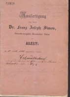 Leasehold Ransom Simon Belmont Of Alzey Father Of August Belmont I 1860 - Historische Dokumente