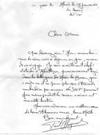 Lettre écrite En Gare De Néris Les Bains (03)  Par Un Locataire Provisoire , Gare à Vendre  - 15 Janvier 1962 - Non Classés