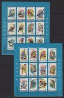 Romania (1991) Yv. Bf. 211/12  /  Fauna - Birds - Oiseaux - Vogel -Pinguin - Owl - Vogels